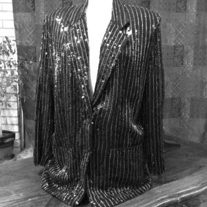 VTG Sandy Starkman black beaded blazer